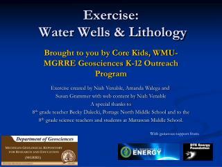 Exercise:  Water Wells & Lithology