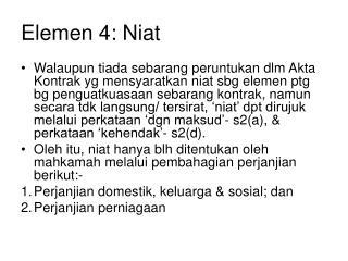 Elemen 4: Niat