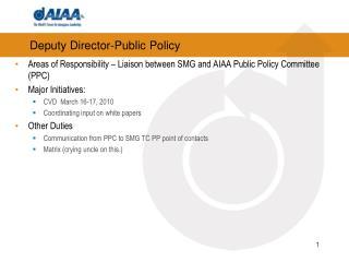 Deputy Director-Public Policy