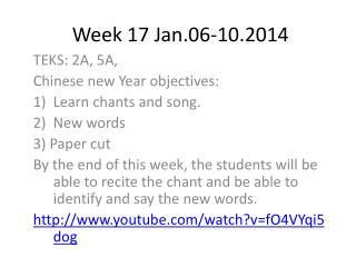 Week 17 Jan.06-10.2014