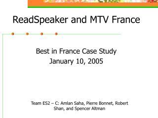 ReadSpeaker and MTV France