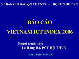VP BAN CHỈ ĐẠO QG VỀ CNTT   -    HỘI TIN HỌC VN