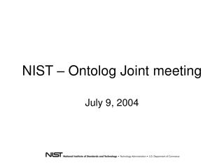 NIST – Ontolog Joint meeting