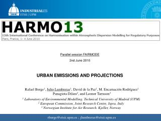 URBAN EMISSIONS AND PROJECTIONS