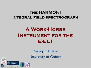 the HARMONI integral field spectrograph