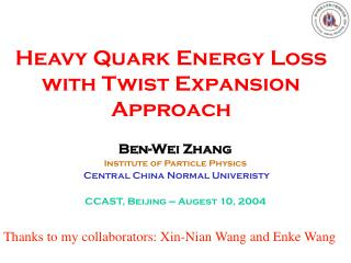 Heavy Quark Energy Loss with Twist Expansion Approach