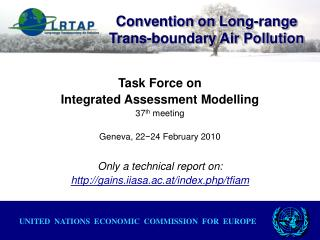 Convention on Long-range Trans-boundary Air Pollution