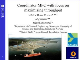 Coordinator MPC with focus on maximizing throughput