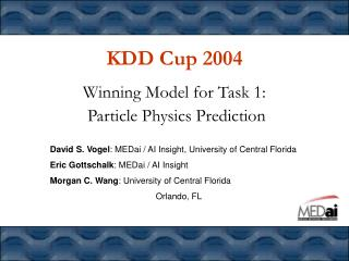 KDD Cup 2004