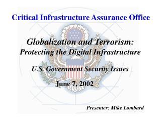Critical Infrastructure Assurance Office