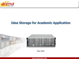 Idea Storage for Academic Application