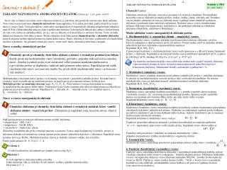 ZÁKLADY NÁZVOSLOVIA ANORGANICKÝCH LÁTOK  (Chémia pre  1. roč. gymn. s.64-78;