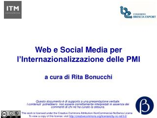 Web e Social Media per l'Internazionalizzazione delle PMI a cura di Rita Bonucchi