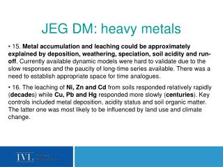 JEG DM:  heavy metals
