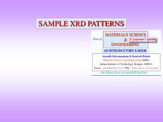 SAMPLE XRD PATTERNS