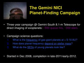 The Gemini NICI  Planet-Finding Campaign