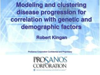 Modeling and clustering disease progression for correlation with genetic and demographic factors