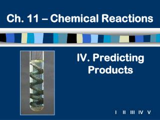 IV. Predicting Products