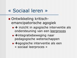 «Sociaal leren»
