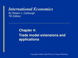 International Economics By Robert J. Carbaugh 7th Edition