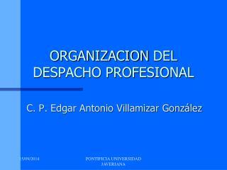 ORGANIZACION  DEL DESPACHO PROFESIONAL