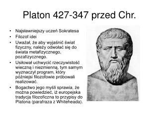 Platon 427-347 przed Chr.