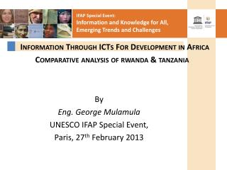 Information Through ICTs For Development in Africa