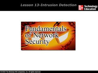 Lesson 13-Intrusion Detection