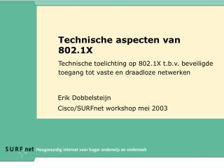 Technische aspecten van 802.1X