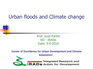 Center of Excellence for Urban Development and Climate Adaptation