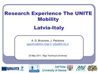 Research Experience The UNITE Mobility