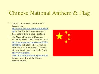 Chinese National Anthem & Flag