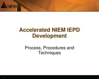 Accelerated NIEM IEPD Development