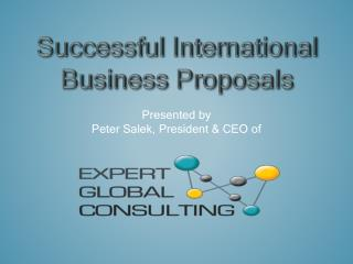 Successful I nternational Business Proposals
