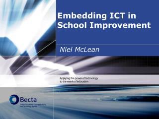 Embedding ICT in School Improvement
