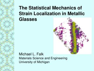 The Statistical Mechanics of Strain Localization in Metallic Glasses
