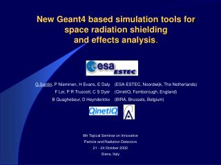 New Geant4 based simulation tools for space radiation shielding  and effects analysis .