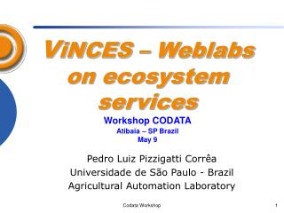 V iNCES – Weblabs on ecosystem services