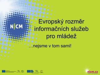 Evropský rozměr informačních služeb pro mládež