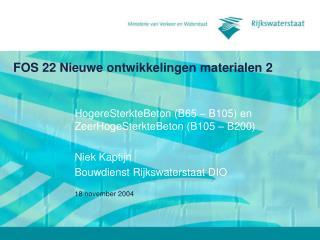 FOS 22 Nieuwe ontwikkelingen materialen 2