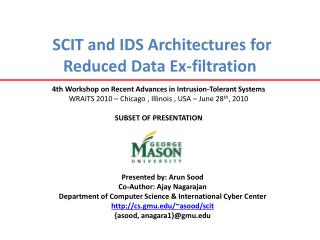 SCIT and IDS Architectures for Reduced Data Ex-filtration