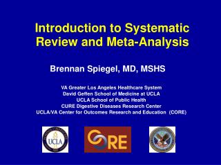 Introduction to Systematic Review and Meta-Analysis
