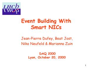 Event Building With  Smart NICs