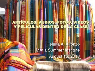 ARTÍCULOS, AUDIOS, FOTOS, VIDEOS Y PELÍCULAS DENTRO DE LA CLASE