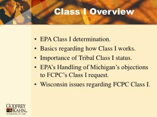Class I Overview