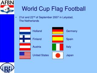 World Cup Flag Football