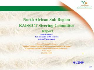 North African Sub Region RAIS/ICT Steering Committee Report
