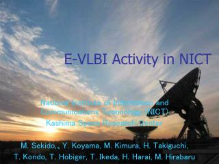 E-VLBI Activity in NICT
