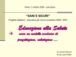 Udine 11 ottobre 2006 - sala Ajace