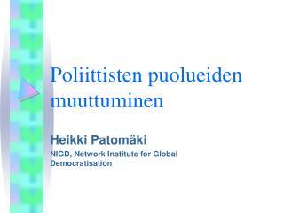 Poliittisten puolueiden muuttuminen